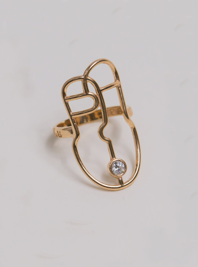 Серебряное кольцо Harize rose MJA_18703, фото 1 - в интернет магазине KAPSULA