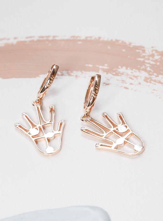 Срібні сережки FiveFi rose MJA_87015, фото 1 - в интернет магазине KAPSULA