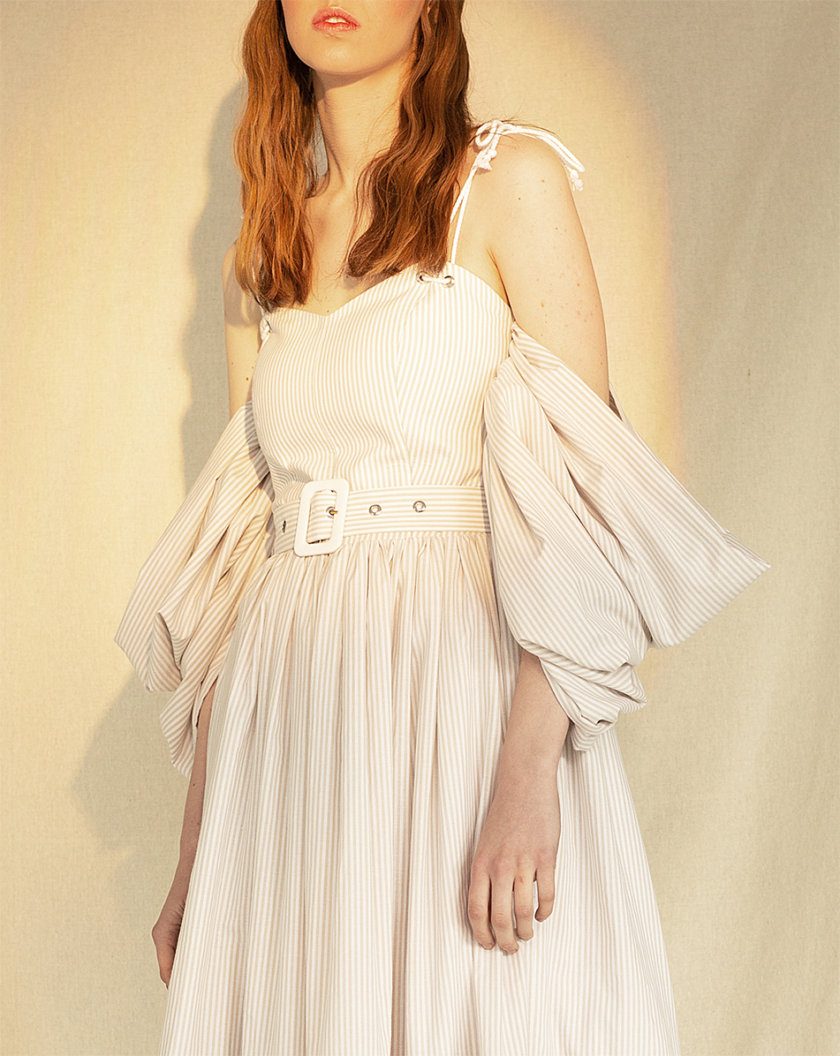 Платье-корсет из хлопка MF-CR19-18, фото 1 - в интернет магазине KAPSULA