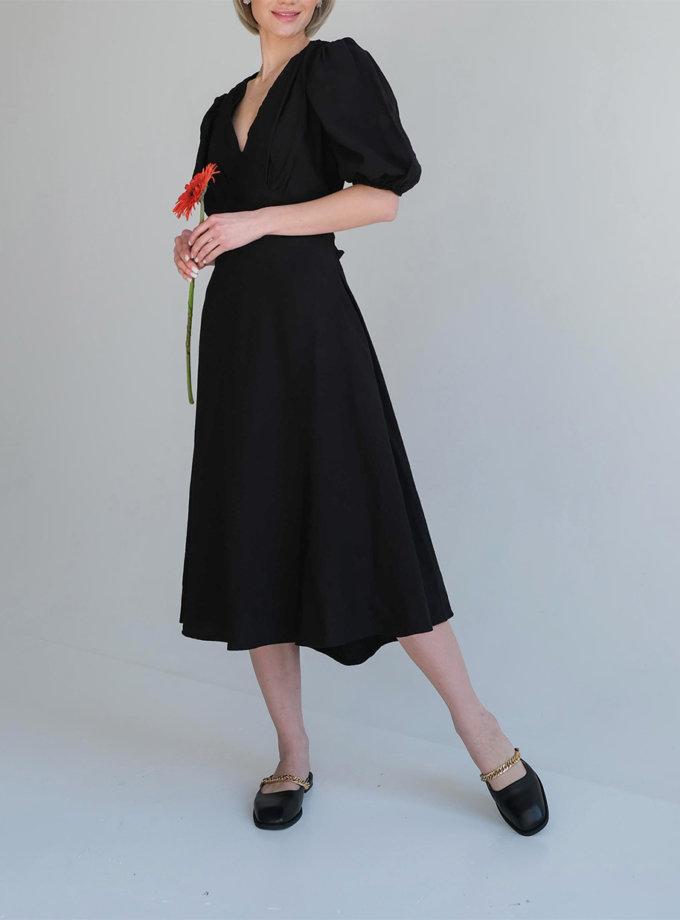 Льняное платье миди Amelie ED_o_PLAM-01, фото 1 - в интернет магазине KAPSULA
