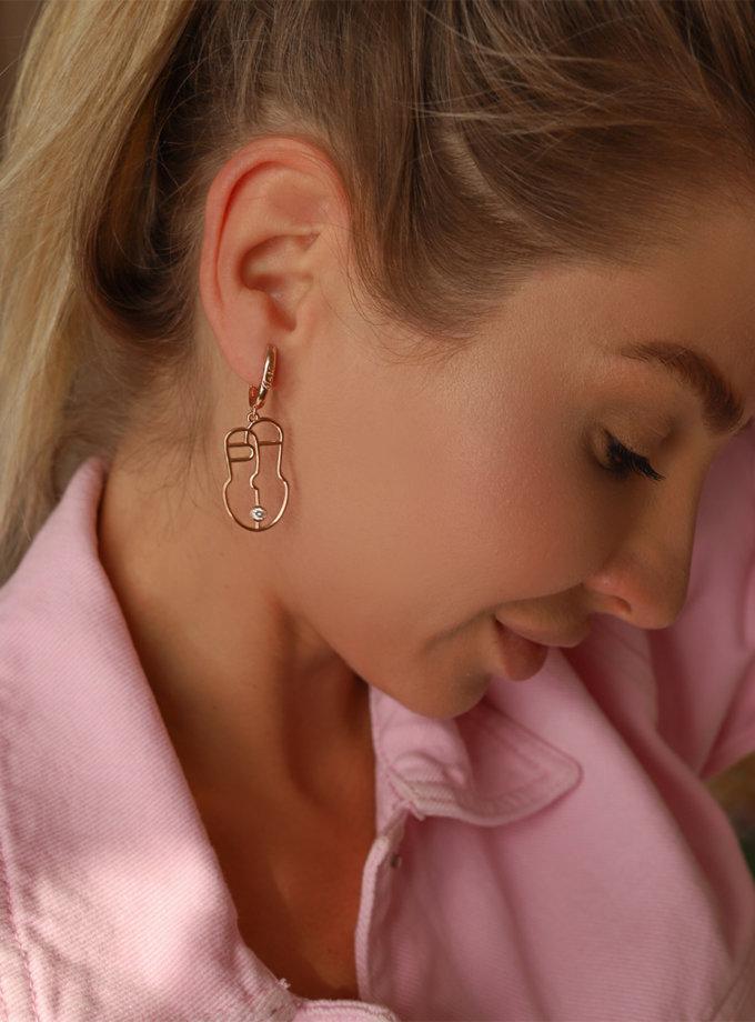 Серебряные сережки Harize rose MJA_87003, фото 1 - в интернет магазине KAPSULA