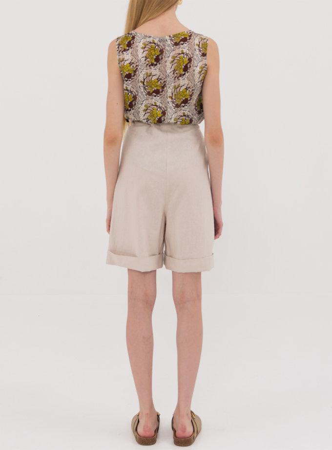 Льняные шорты на кулиске SHKO_19032011, фото 1 - в интернет магазине KAPSULA