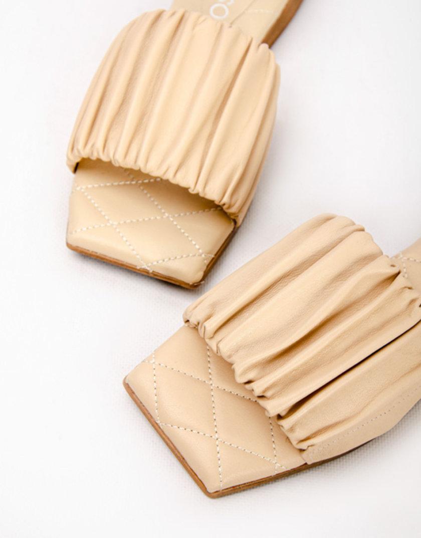 Кожаные шлепанцы Maria CRS_21-00424, фото 1 - в интернет магазине KAPSULA