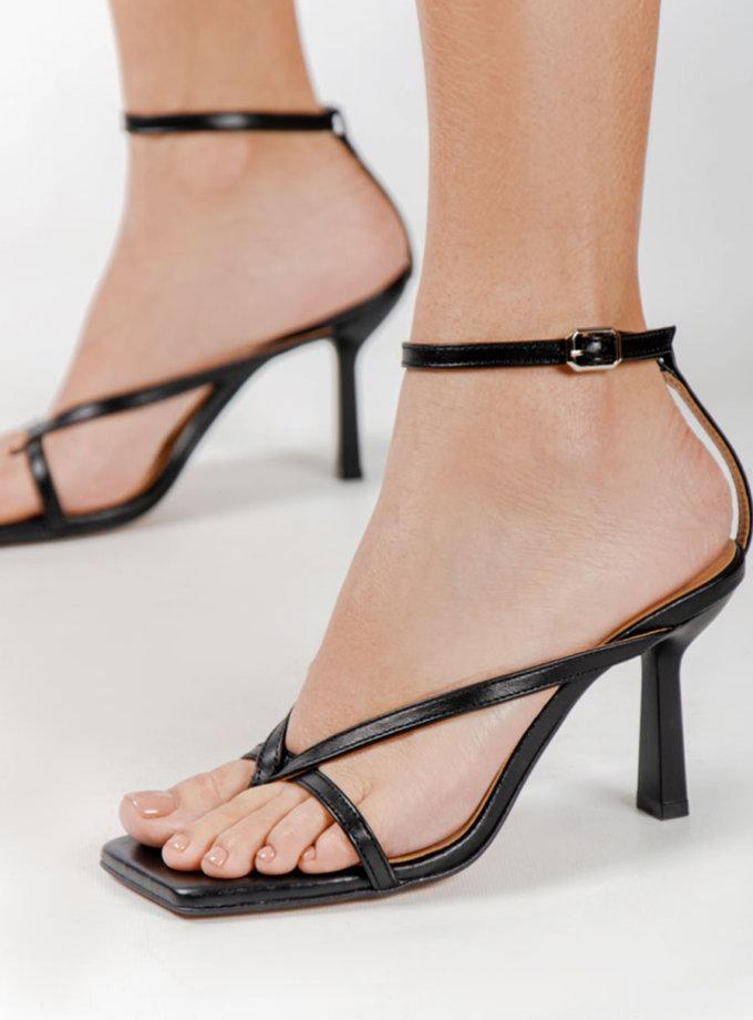 Кожаные босоножки Eloise Black CRS_21-00508, фото 1 - в интернет магазине KAPSULA