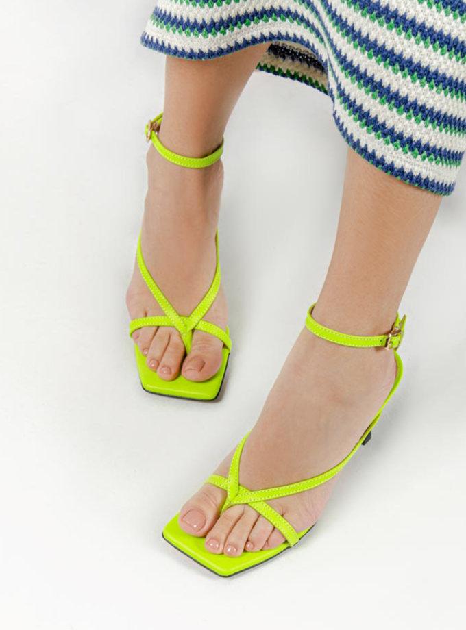Кожаные босоножки Eloise Neon CRS_21-00509, фото 1 - в интернет магазине KAPSULA