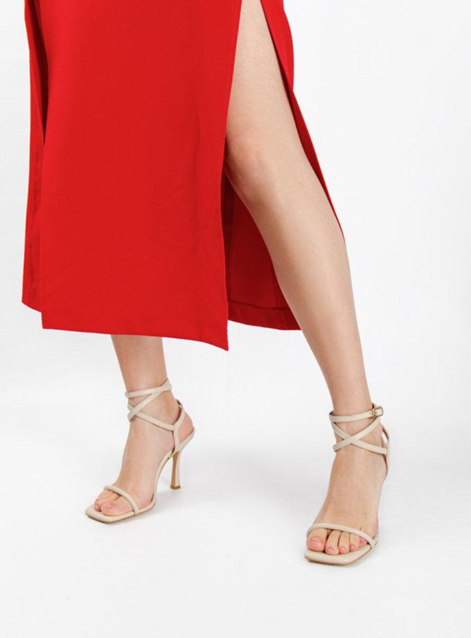 Шкіряні босоніжки CRS_21-00535, фото 1 - в интернет магазине KAPSULA