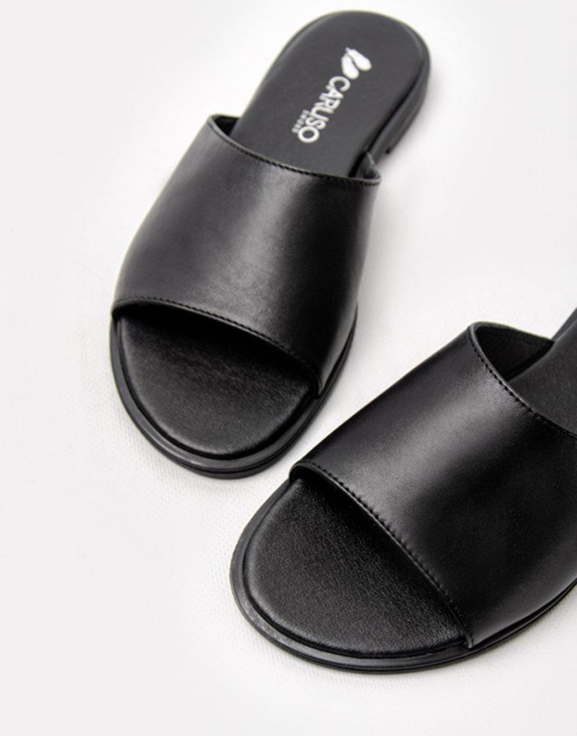 Кожаные шлепанцы Belle Black CRS_21-00960, фото 1 - в интернет магазине KAPSULA