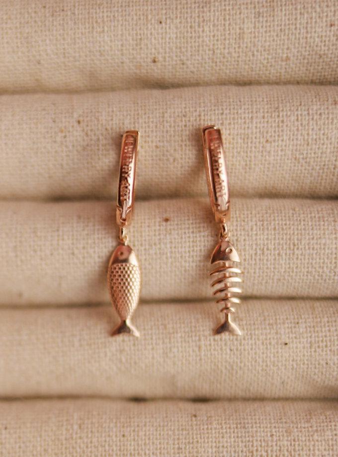 Серебряные сережки Dualit rose MJA_87006, фото 1 - в интернет магазине KAPSULA