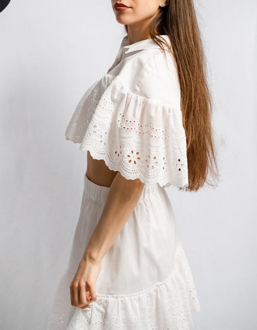 Хлопковый костюм с коротким топом SHE_lacesuit_milk1, фото 1 - в интернет магазине KAPSULA