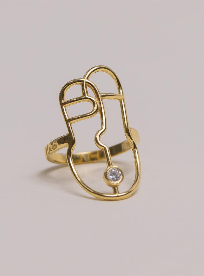 Серебряное кольцо Harize yellow MJA_18704, фото 1 - в интернет магазине KAPSULA
