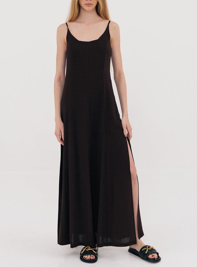 Платье миди с разрезами Brown SHKO_21019001, фото 1 - в интернет магазине KAPSULA