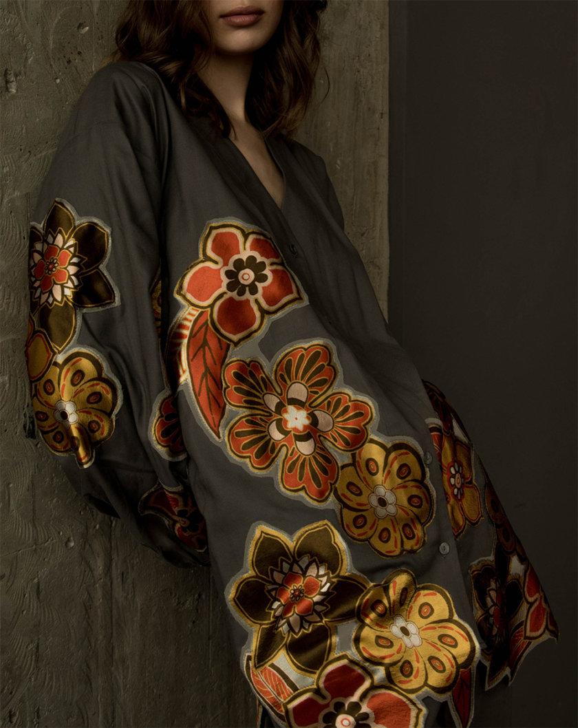 Костюм рубашка и брюки в цветочный принт ZHRK_zkss210012, фото 1 - в интернет магазине KAPSULA