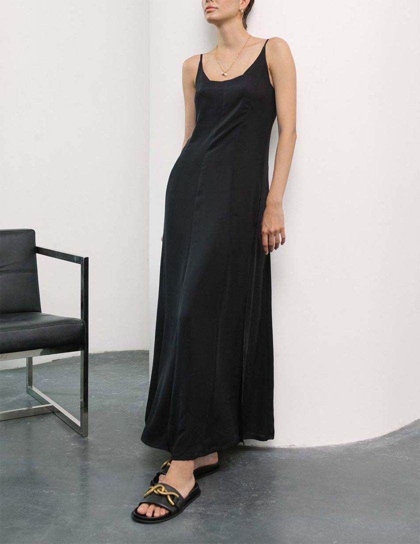 Платье миди с разрезами Black SHKO_21019002, фото 1 - в интернет магазине KAPSULA