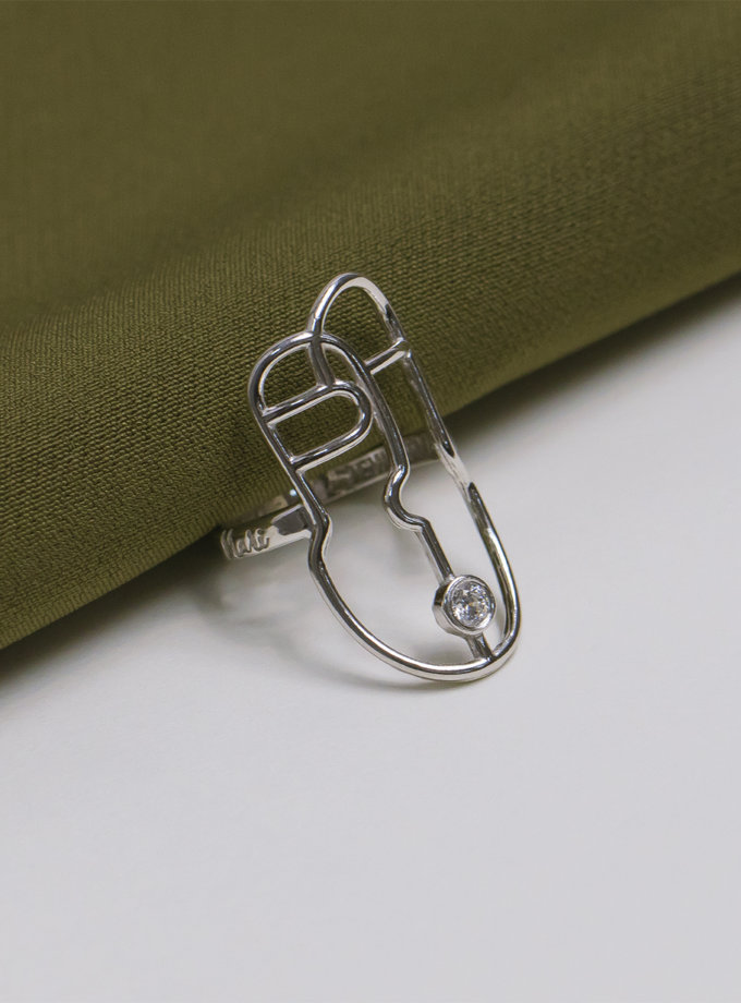Серебряное кольцо Harize white MJA_18705, фото 1 - в интернет магазине KAPSULA