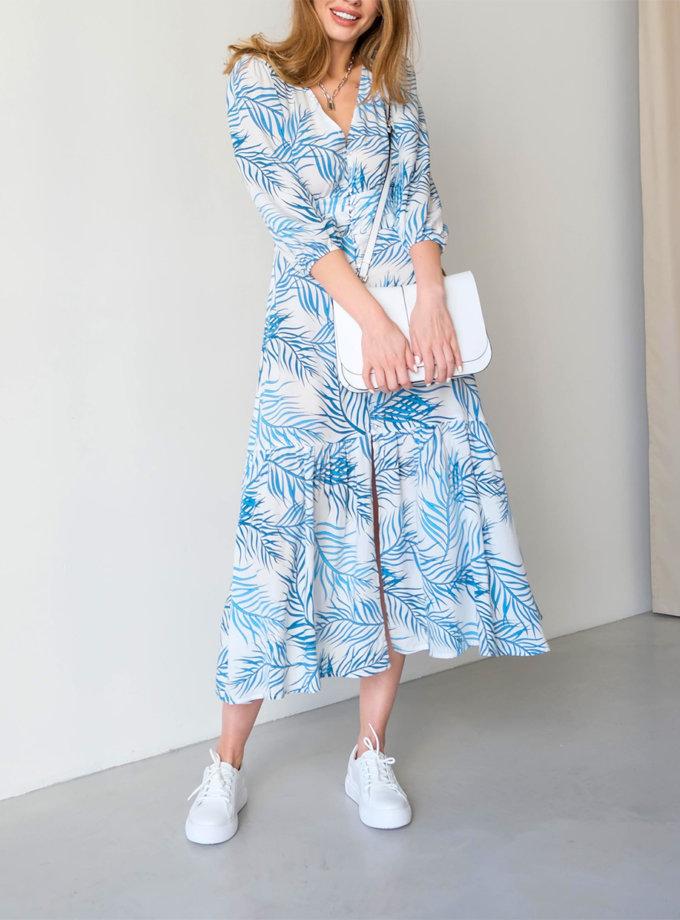 Хлопковое платье миди Santorini ED_o_PLSAN-34, фото 1 - в интернет магазине KAPSULA
