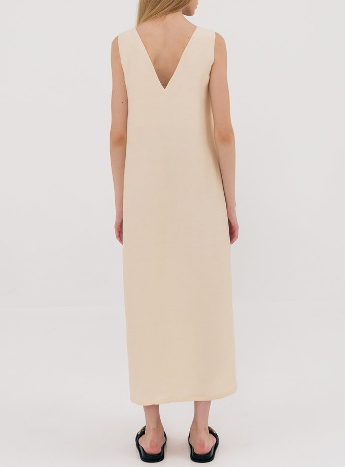 Платье свободного кроя разрезами SHKO_21023001, фото 1 - в интернет магазине KAPSULA