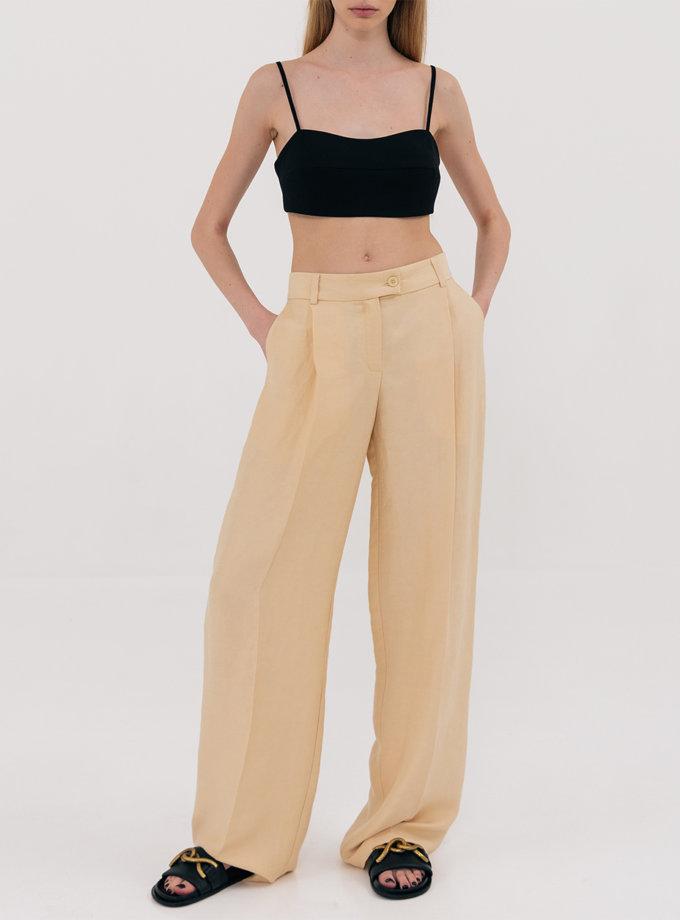 Широкі брюки з защипами SHKO_21022002, фото 1 - в интернет магазине KAPSULA