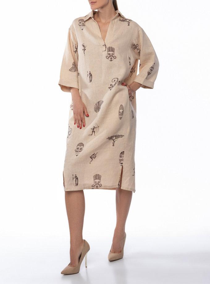 Льняное платье-рубашка Karoo DONT_A1830, фото 1 - в интернет магазине KAPSULA