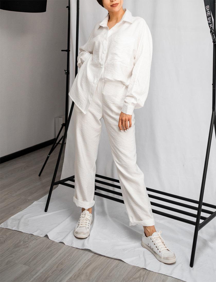 Хлопковый костюм с укороченными брюками SHE_suit_milk, фото 1 - в интернет магазине KAPSULA
