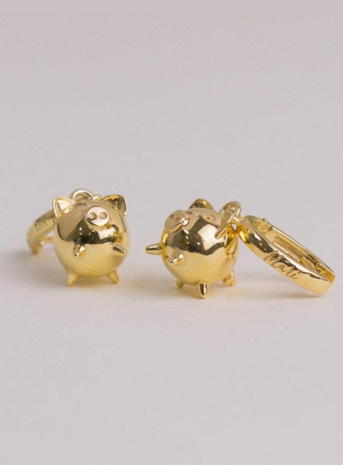 Серебряные сережки MiliPi  yellow MJA_87013, фото 1 - в интернет магазине KAPSULA
