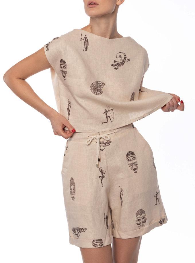 Льняные шорты Karoo DONT_A1811, фото 1 - в интернет магазине KAPSULA