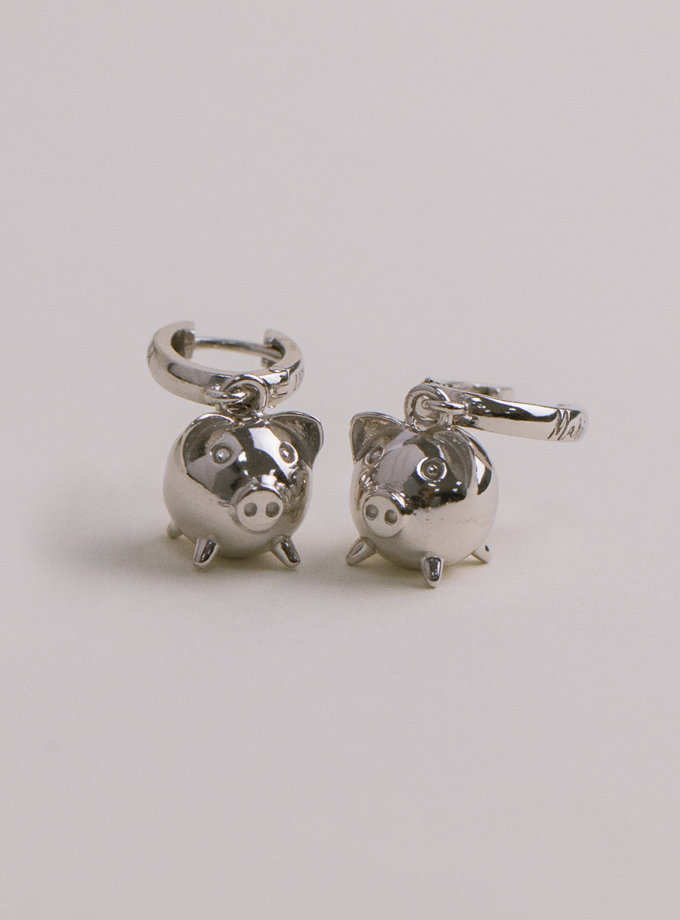 Серебряные сережки MiliPi white MJA_87014, фото 1 - в интернет магазине KAPSULA