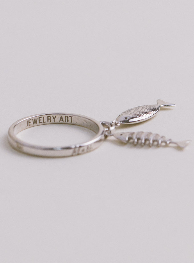 Серебряное кольцо Dualit white MJA_18708, фото 1 - в интернет магазине KAPSULA