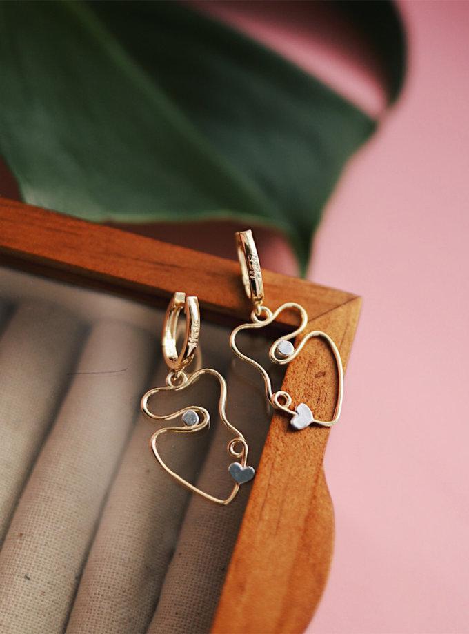 Серебряные сережки Emouzen yellow MJA_87001, фото 1 - в интернет магазине KAPSULA