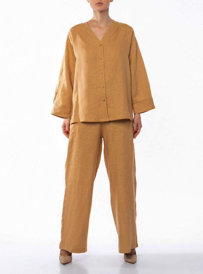 Льняные брюки Sahara DONT_A1821, фото 1 - в интернет магазине KAPSULA