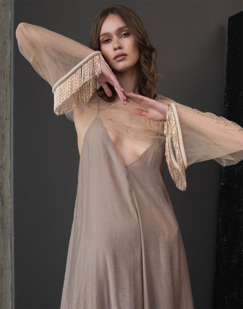 Накидка с вышивкой бисером ZHRK_zkss21001601, фото 1 - в интернет магазине KAPSULA