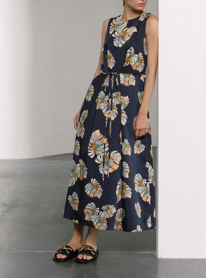 Платье миди с завязками SHKO_21012001, фото 1 - в интернет магазине KAPSULA