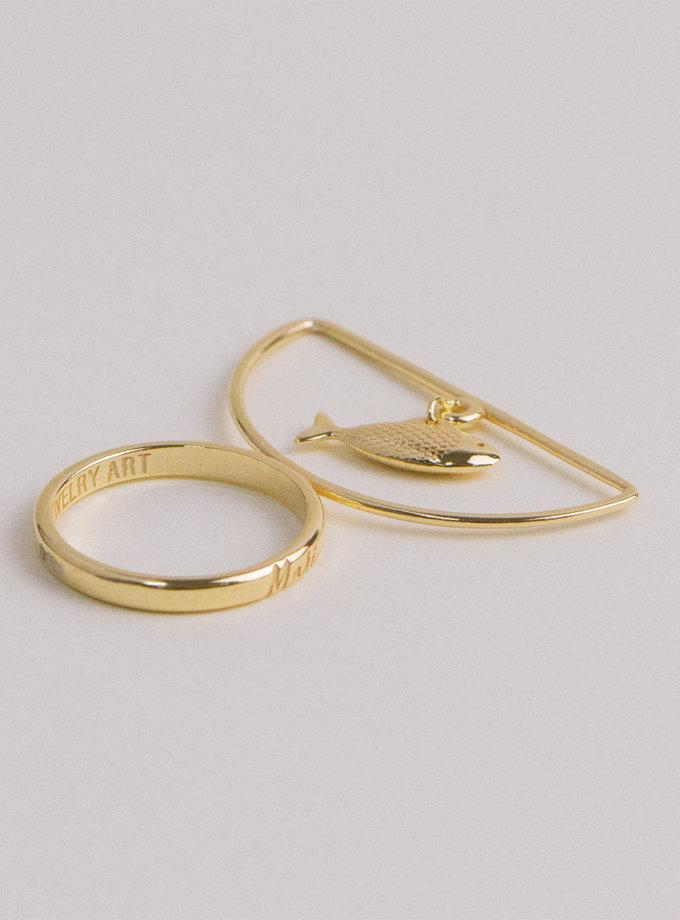 Серебряное кольцо SelFish yellow MJA_18710, фото 1 - в интернет магазине KAPSULA