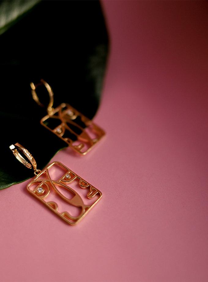 Серебряные сережки Togez rose MJA_87018, фото 1 - в интернет магазине KAPSULA