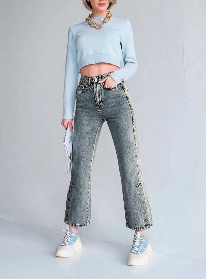 Укороченные джинсы из хлопка Nevada ED_o_DJNVD-08, фото 1 - в интернет магазине KAPSULA