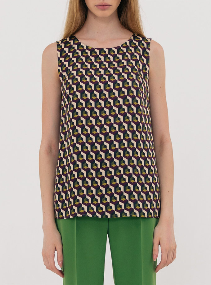 Блуза прямого силуету SHKO_13076085, фото 1 - в интернет магазине KAPSULA