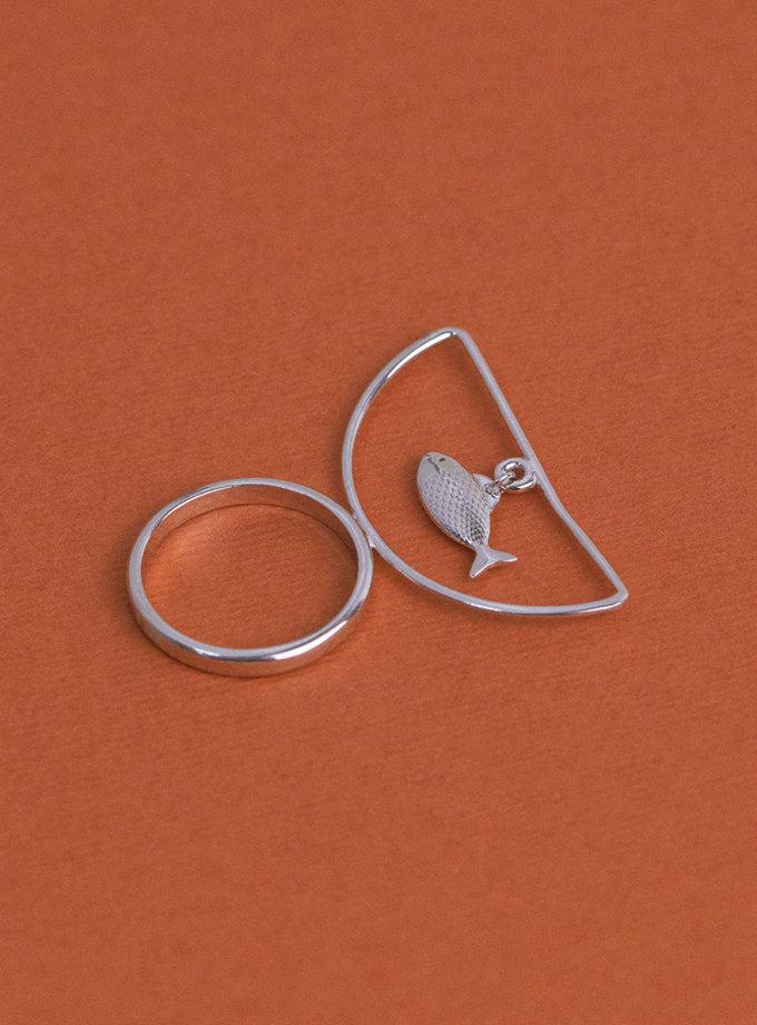 Серебряное кольцо SelFish white MJA_18711, фото 1 - в интернет магазине KAPSULA