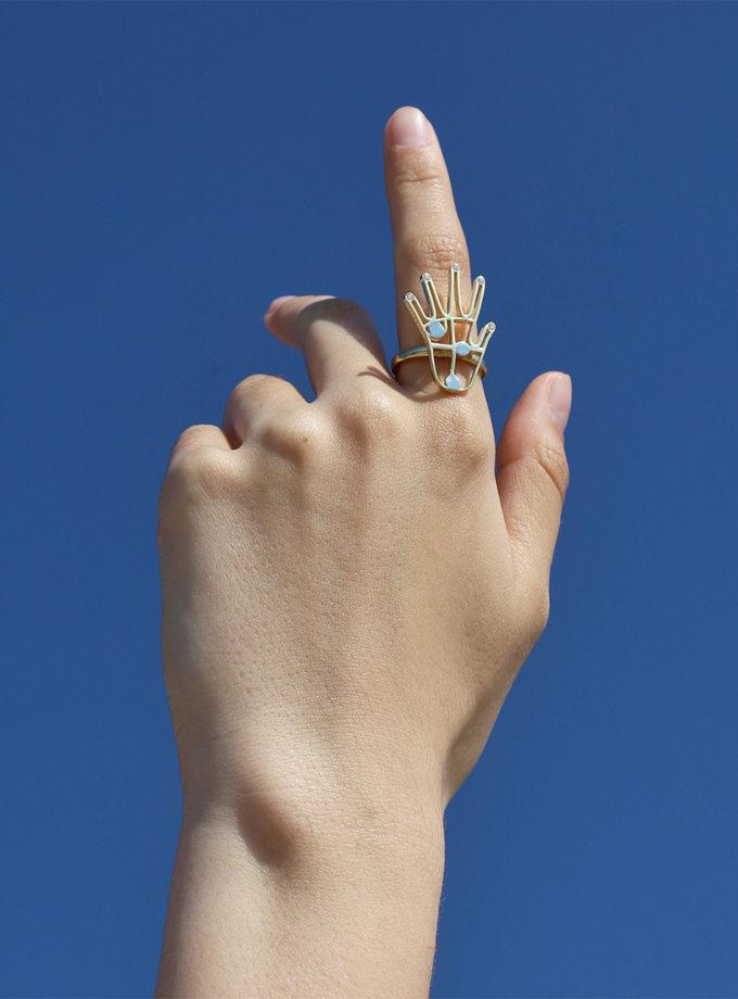 Серебряные кольцо FiveFi white MJA_18720, фото 1 - в интернет магазине KAPSULA