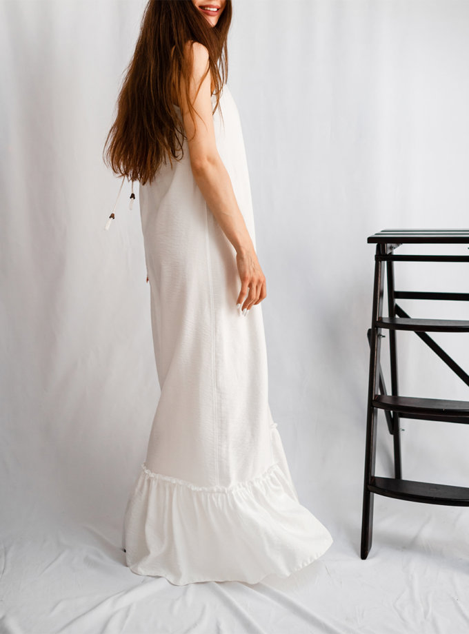 Хлопковый сарафан макси SHE_sundress_white, фото 1 - в интернет магазине KAPSULA