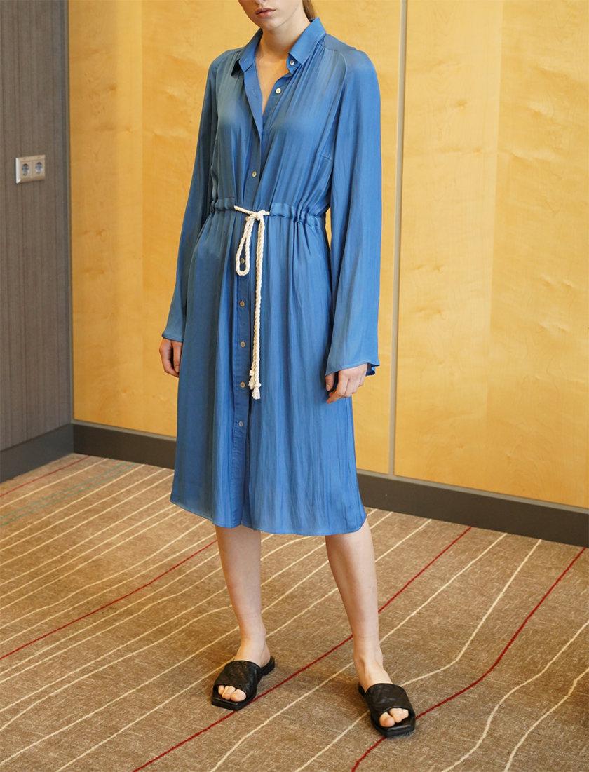Платье-рубашка миди ZHRK_zkss210021bl, фото 1 - в интернет магазине KAPSULA