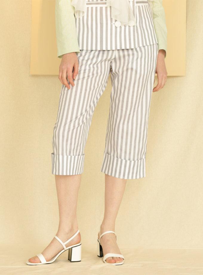 Вкорочені брюки з бавовни MF-CR19-6, фото 1 - в интернет магазине KAPSULA