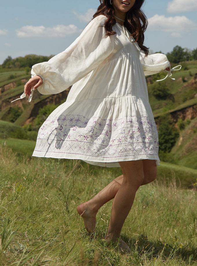 Льняное ярусное платье BETH_BD_SS21_11, фото 1 - в интернет магазине KAPSULA