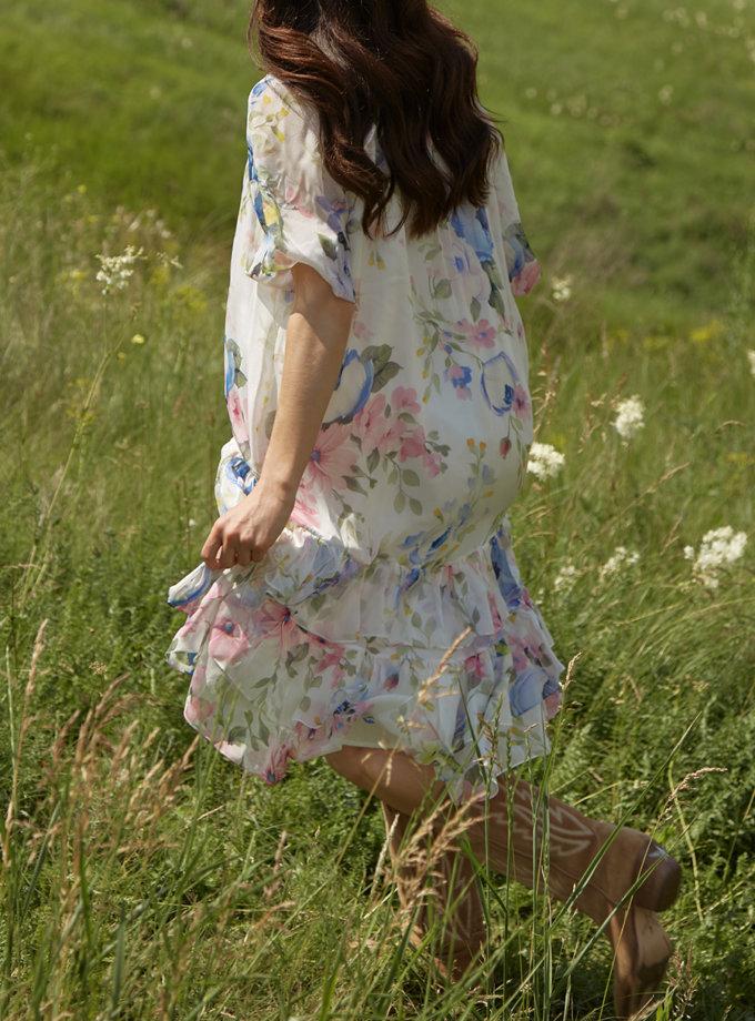 Шелковое платье прямого кроя BETH_BD_SS21_13_1, фото 1 - в интернет магазине KAPSULA