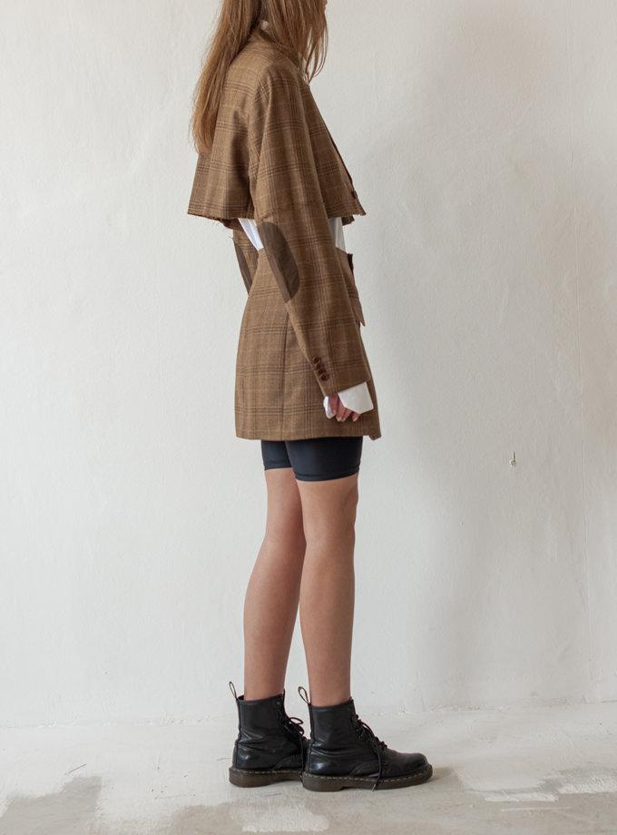 Костюм из шерсти с необработанным краем NNB_BROWNCHECK, фото 1 - в интернет магазине KAPSULA