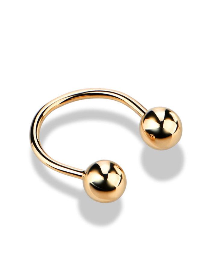 Кольцо из желтого золота на фалангу DUD_01911_03_0, фото 1 - в интернет магазине KAPSULA