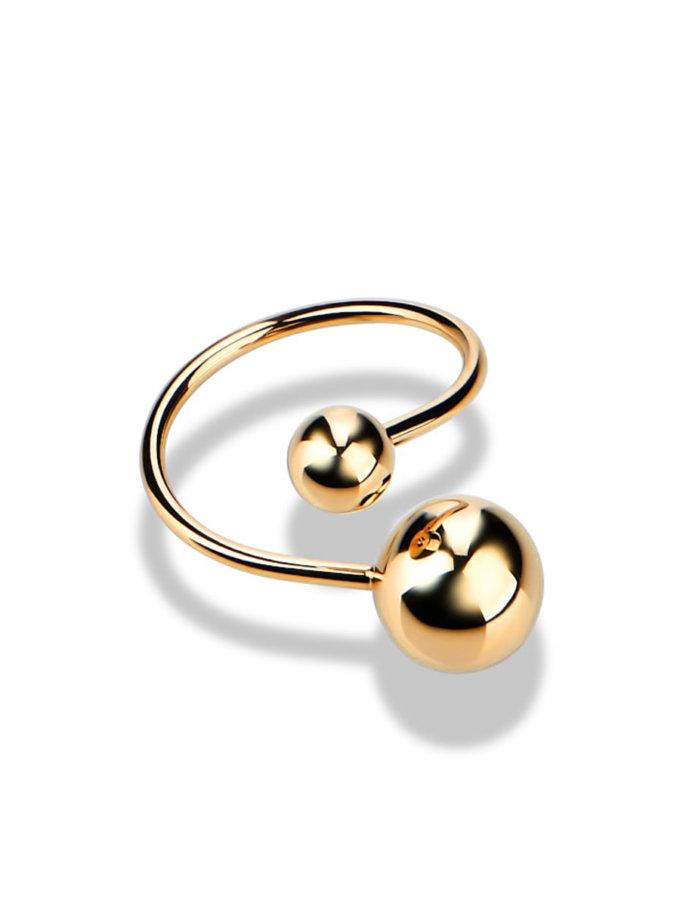 Кольцо из желтого золота DUD_01915_03_0, фото 1 - в интернет магазине KAPSULA