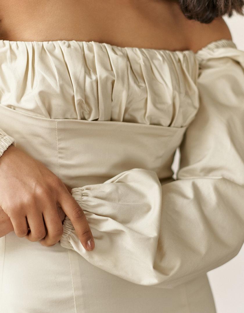 Платье мини с драпировкой NVL_SS2021_1, фото 1 - в интернет магазине KAPSULA
