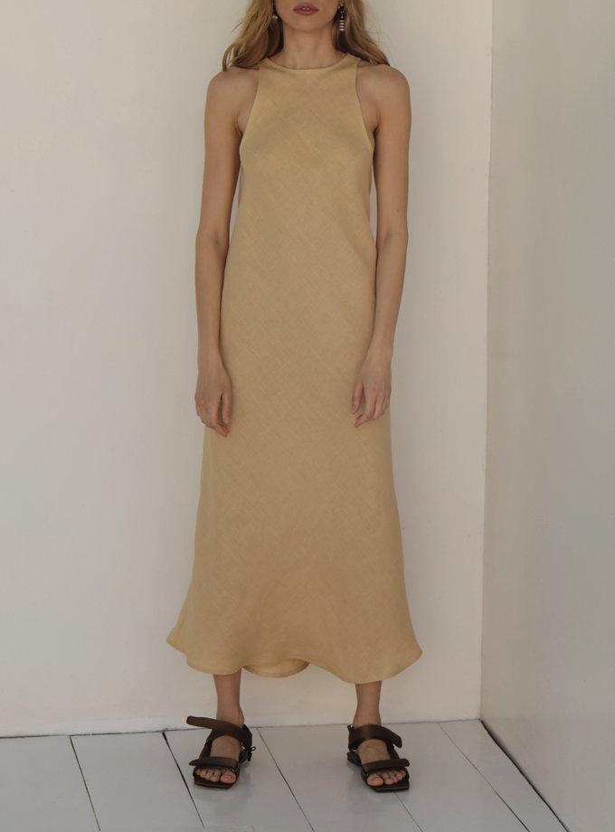 Сукня міді з льону IRRO_IR_SM21_DB_012, фото 1 - в интернет магазине KAPSULA
