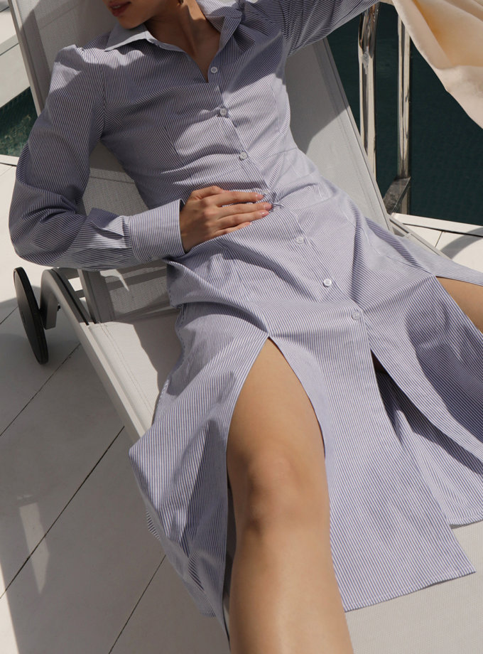 Сукня з бавовни в смужку IRRO_IR_SM21_DS_014, фото 1 - в интернет магазине KAPSULA