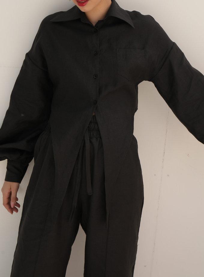 Укорочена сорочка з льону IRRO_IR_SM21_SD_001, фото 1 - в интернет магазине KAPSULA