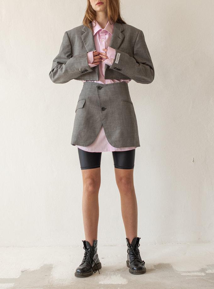 Костюм из шерсти с необработанным краем NNB_LIGHTGRAY, фото 1 - в интернет магазине KAPSULA